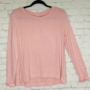 Roxy soft ribbed pink long sleeved shirt